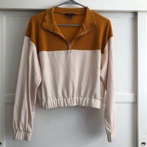Half Zip Yellow Sweater